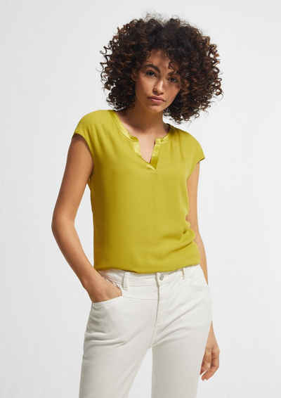 Comma Kurzarmshirt »T-Shirt mit Chiffon-Front« (1-tlg) Blende