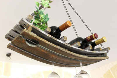 DanDiBo Weinregal »Weinregal 5089 Deckenregal aus Holz 65 cm Hängeregal Flaschenhalter Flaschenregal«