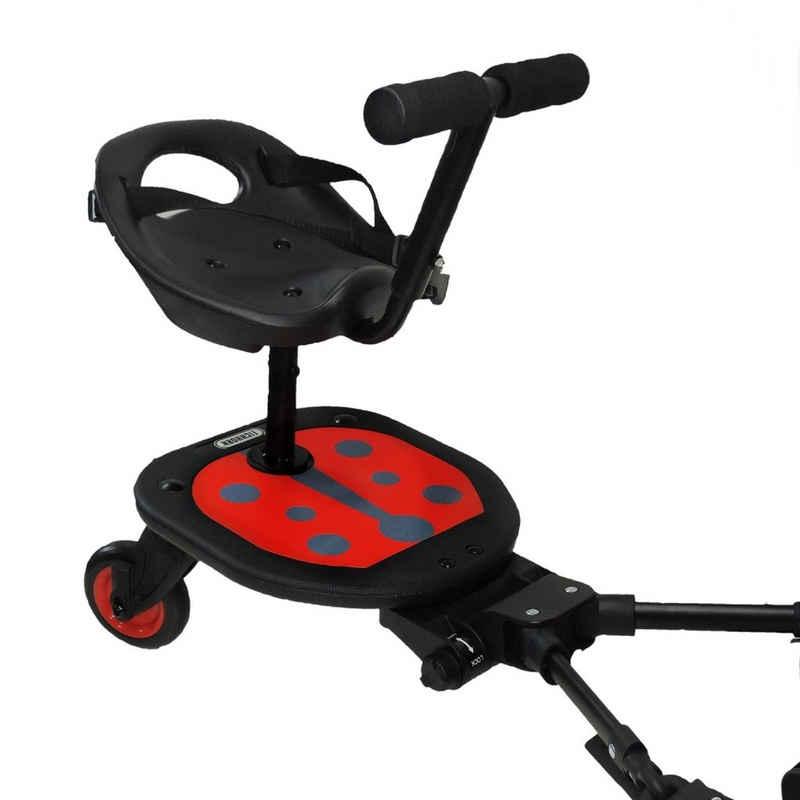 Eichhorn Kinderwagen Buggyboard »Eichhorn Ladybug Rider«, mit abnehmbarem Sitz und Lenkstange zum festhalten