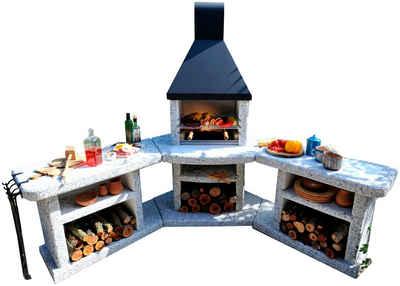 WELLFIRE Grillkamin »Außenküche Toskana Quatro«, BxTxH: 188x73x216 cm