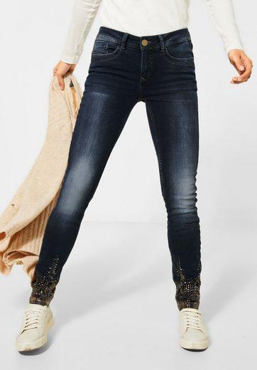 STREET ONE Slim-fit-Jeans mit Crinkles