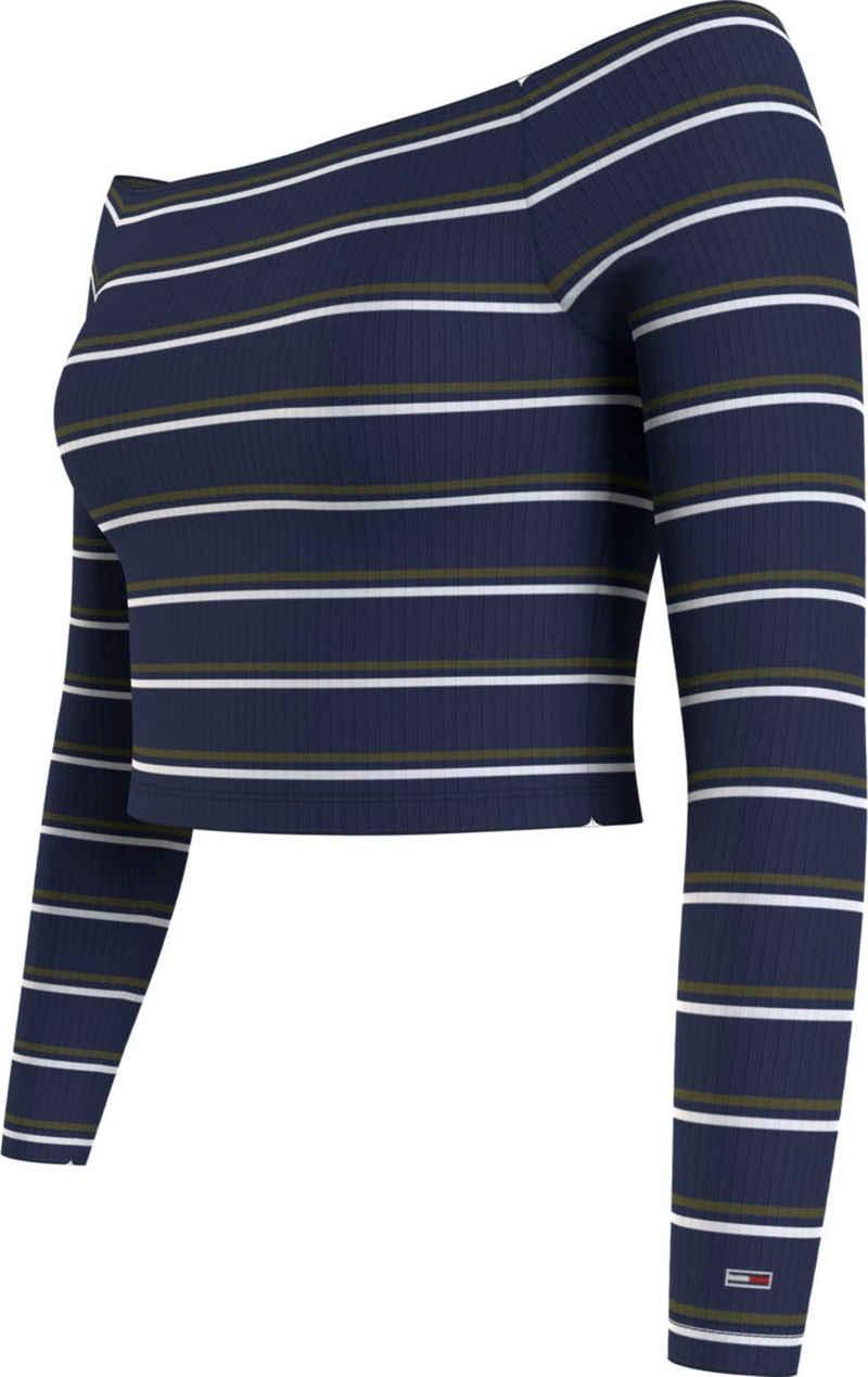 Tommy Jeans Carmenshirt »TJW Skinny Off Shoulder Stripe« mit allover Ringeldessin