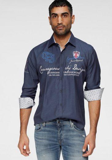 Cipo & Baxx Langarmhemd mit aufwändigen Stickereien
