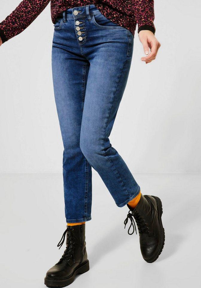street one -  High-waist-Jeans »Tilly« mit Kontrastnähten