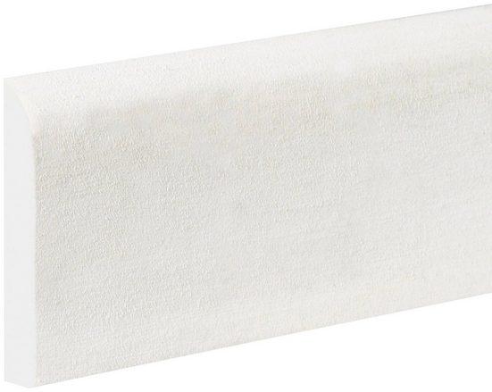 BODENMEISTER : Sockelleiste »Biegeleiste Oberkante abgerudet weiß«, flexibel, biegbar, Höhe: 6,9 cm