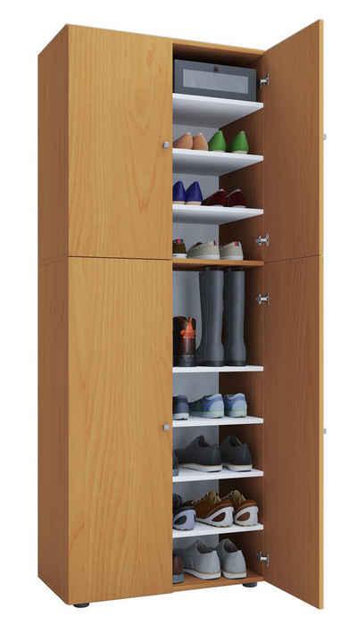 VCM Schuhschrank »Holz Schuhschrank Lona 9-fach mit Drehtüren«