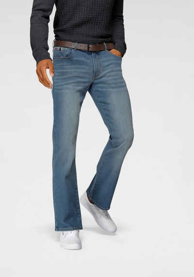 H.I.S Bootcut-Jeans »BOOTH« (Set, mit abnehmbarem Gürtel) Nachhaltige, wassersparende Produktion durch OZON WASH