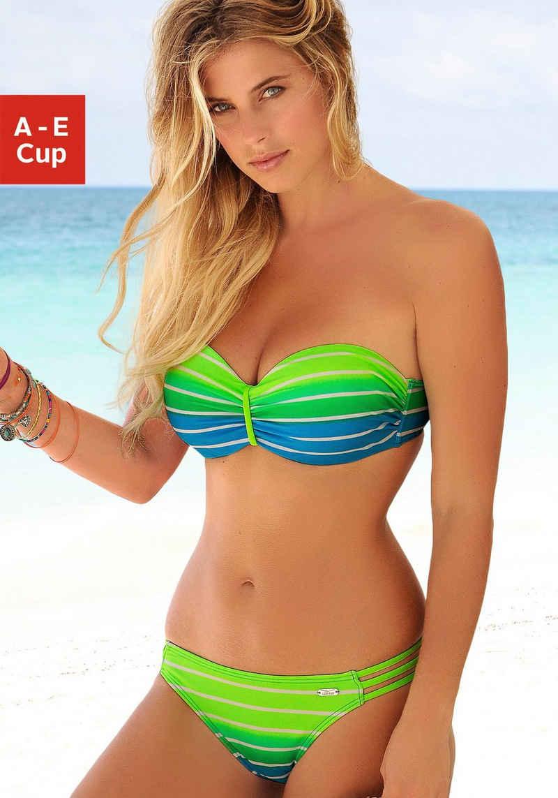 Venice Beach Bügel-Bandeau-Bikini im trendigen Streifen-Look