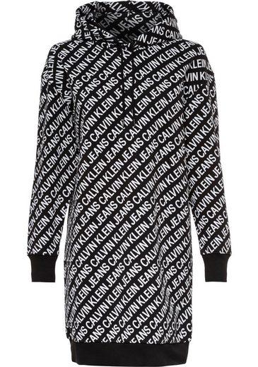 Calvin Klein Jeans Sweatkleid »LOGO AOP OVERSIZED HWK DRESS« mit Allover-Logoprint
