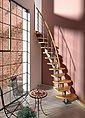 DOLLE Systemtreppe »Berlin«, Edelstahlgeländer mit Holzhandlauf aus Buche, BxH: 64x247 cm, Bild 1