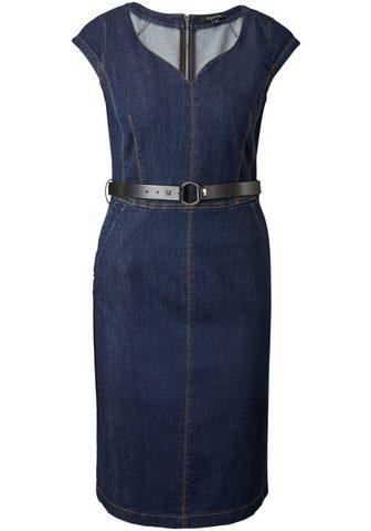 Comma Džinsinė suknelė su diržas in Leder-Op...