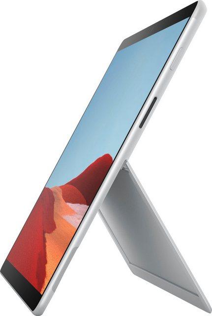 Microsoft Surface Pro X, 256 16GB Platin Convertible Notebook 33,02 cm 13 Zoll, Qualcomm, SQ 1 Adreno 685 GPU, 256 GB SSD