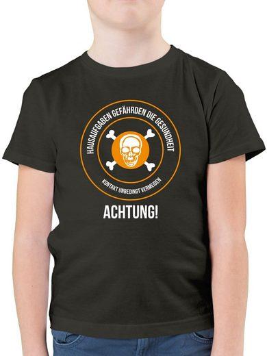 Shirtracer T-Shirt »Hausaufgaben gefährden die Gesundheit - Statement - Jungen Kinder T-Shirt - T-Shirts« t-shirt hausaufgaben gefährden meine gesundheit