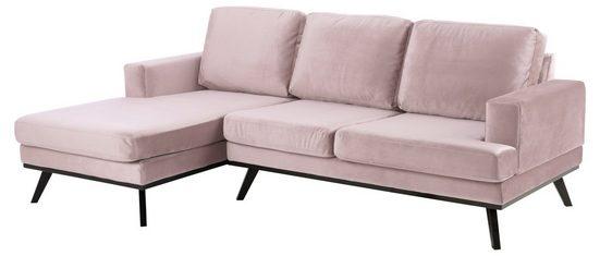 ebuy24 Sofa »Nord Sofa 2 Sitzer, Ottomane links rosa.«