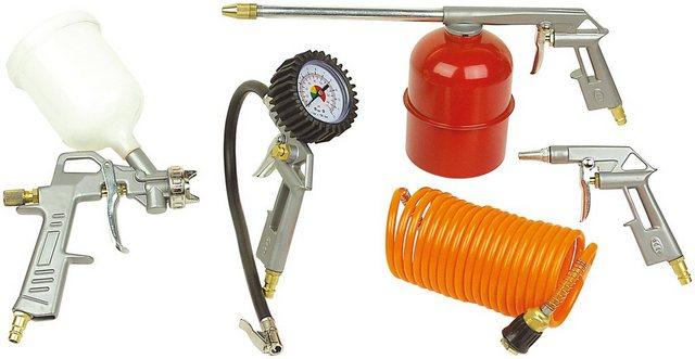 BRUEDER MANNESMANN WERKZEUGE Druckluft-Set , 5-tlg. | Baumarkt > Werkzeug > Werkzeug-Sets | Rot | Brüder Mannesmann Werkzeuge