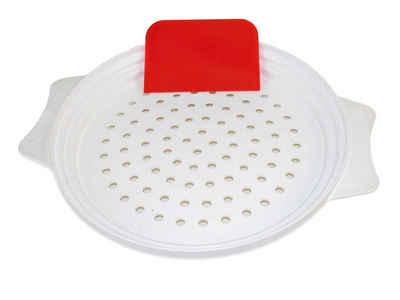 Muxel Spätzlereibe »Muxel Spätzlesieb, die Einfache Art Spätzle zu«, Kunststoff, (mit-Teigschaber, 2-St., Spätzlebrett mit Teigschaber und Rezeptheft), Leicht zu reinigen