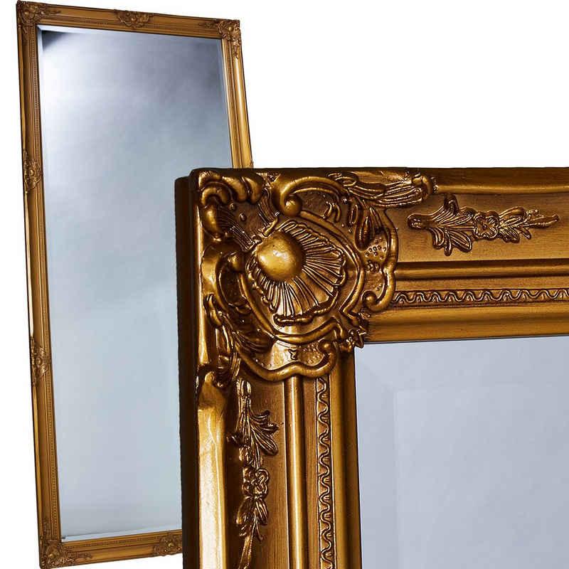 LC Home Wandspiegel »Wandspiegel Spiegel 180 x 80 cm Antik-Stil barock m. Facettenschliff«, Barockstil, Facettenschliff