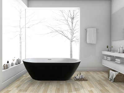 HOME DELUXE Badewanne »Codo black Edition«, (2-tlg), B/T: 170 / 80 / 58 cm (B/T/H), freistehend