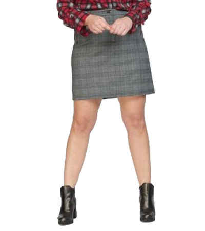 NoSecret Minirock »no secret Karo-Rock schmal geschnittener Damen Mini-Rock Große Größen Business-Rock Grau/Weiß«