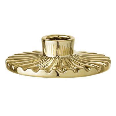 Bloomingville Kerzenhalter »Bloomingville Kerzenhalter Rund Porzellan gold«