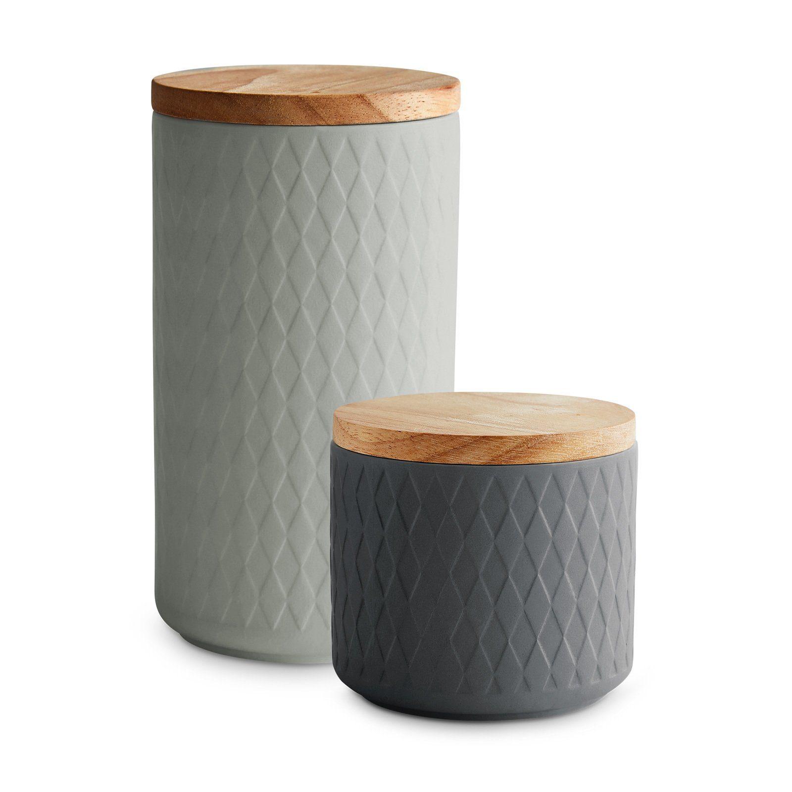 Springlane Vorratsdose »Grau«, Keramik, Kautschukholz, Silikon online kaufen | OTTO