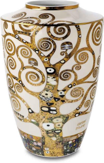 """Goebel Tischvase »Vase Gustav Klimt - """"Der Lebensbaum""""« (1 Stück), aus Porzellan, Höhe ca. 24 cm"""