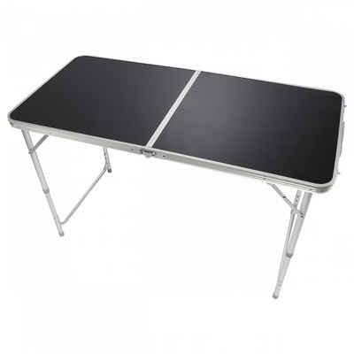 Goods+Gadgets Klapptisch »Camping-Tisch Multifunktionstisch« (Markttisch Tapeziertisch), Klappbarer Mehrzwecktisch - Klapp-Tisch Schwarz