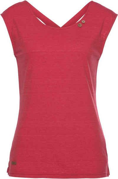 Ragwear Shirttop »SOFIA« mit Zierknöpfen und ausdrucksstarkem Rückenausschnitt