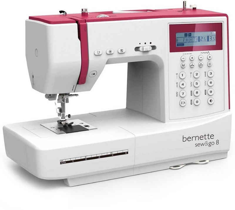 Bernette Nähmaschine Bernette Sew&GO8 Computer-Nähmaschine mit 197