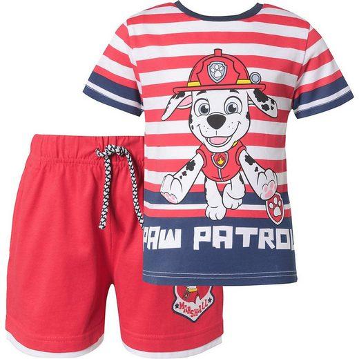 PAW PATROL T-Shirt »Paw Patrol Kinder Set T-Shirt + Shorts für Jungen«