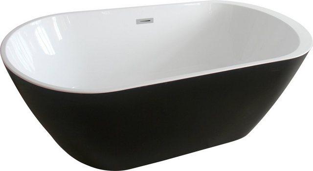 Badewannen und Whirlpools - HOME DELUXE Badewanne »Codo black Edition«, (2 tlg), B T 170 80 58 cm (B T H), freistehend  - Onlineshop OTTO