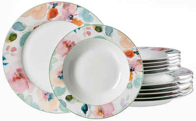 Ritzenhoff & Breker Tafelservice »Celine« (12-tlg), Porzellan, Floral-Dekor