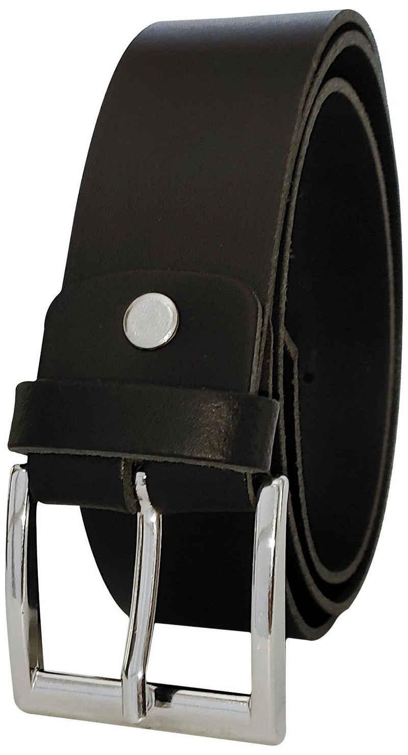 FRONHOFER Ledergürtel »18580« Herrengürtel, 4 cm, 100% Leder, mit Schraube, kürzbar, Wechselgürtel