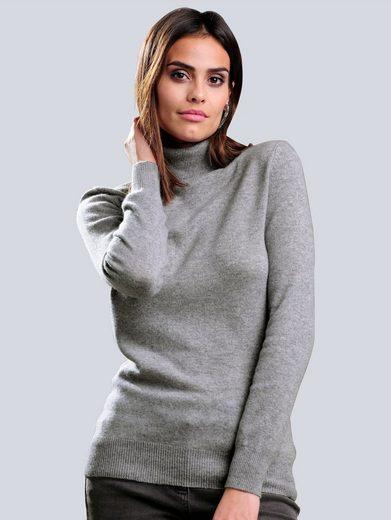 Alba Moda Rollkragenpullover aus hochwertigem Kaschmir