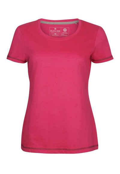 Elkline T-Shirt »Open Road« Bio-Baumwolle Basic Shirt und lizenzierter VW Rücken Print