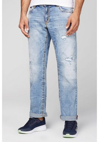 CAMP DAVID Comfort-fit-Jeans su Destroy-Effekte