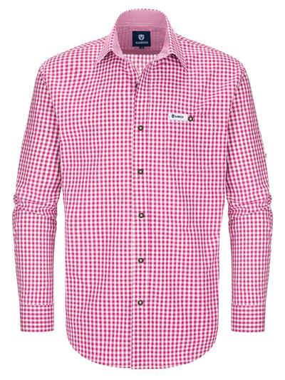 Almbock Trachtenhemd »Männerhemd Antonius« beere karo