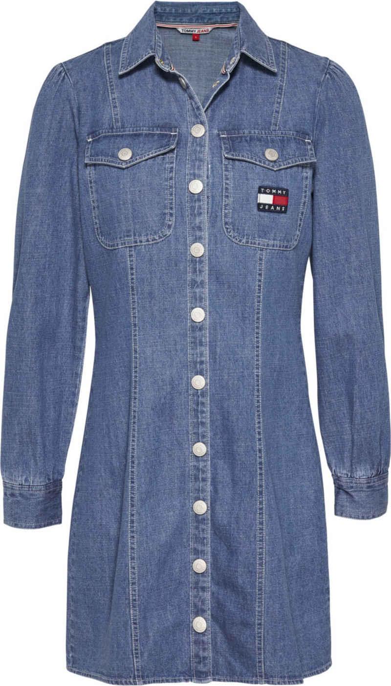Tommy Jeans Hemdblusenkleid »TJW Chambray Shirt Dress« mit Tommy Jeans Logo-Badge