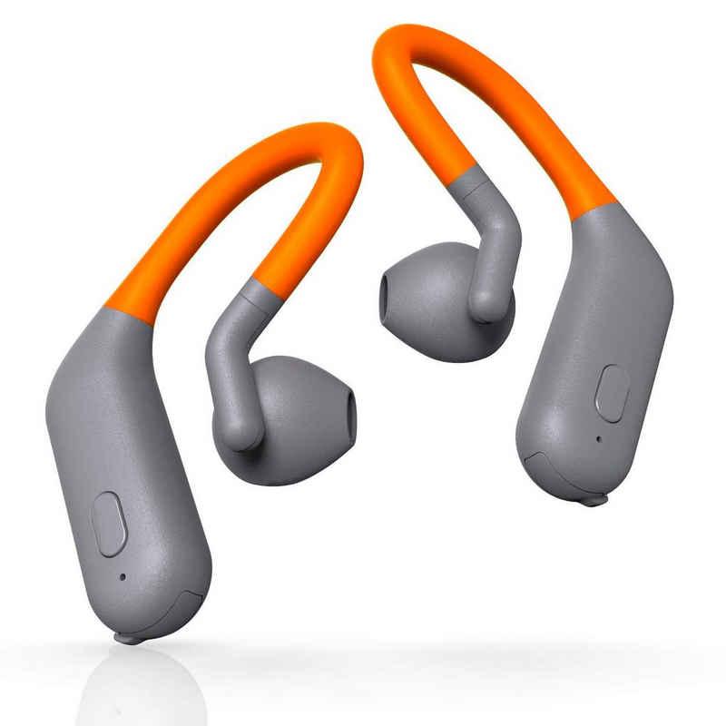 Thomson »True Wireless Sport Kopfhörer WEAR8500BT« Smartphone-Headset (Anruffunktion,Bluetooth,Mikrofon, Bluetooth 5.0, True Wireless, Schweißfest, Ideal auch für Sport, Bluetooth 5.0, Leicht, Anruf-Funktionen, Integriertes Mikrofon)