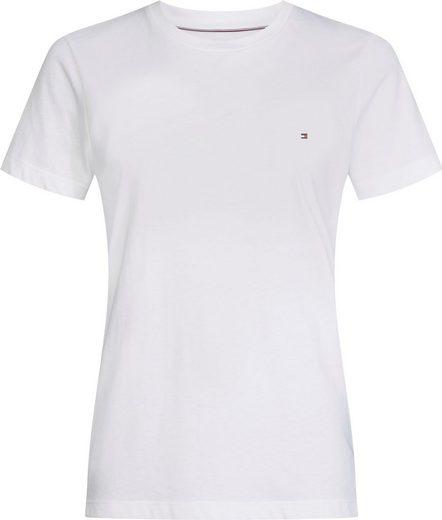 Tommy Hilfiger T-Shirt »HERITAGE CREW NECK TEE« mit Tommy Hilfiger Logo-Flag auf der Brust