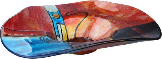 GILDE GLAS art Dekoschale »New Life 2«, handbemalt mit Fusingglas-Elementen
