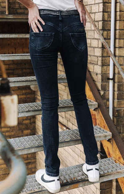 Freeman T. Porter Slim-fit-Jeans »Alexa High Waist stretch Denim Melrose«