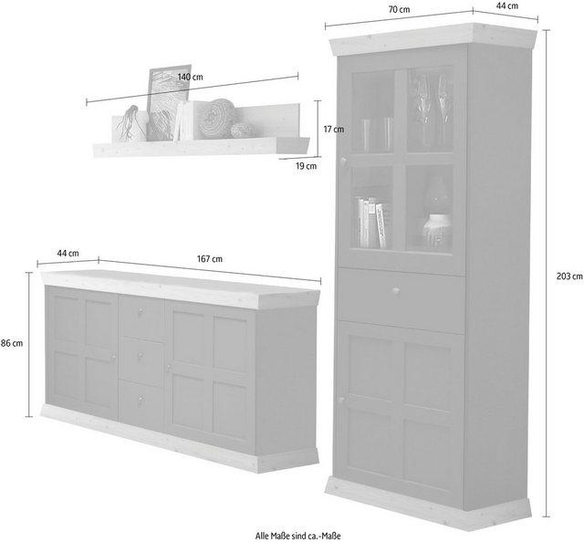 Wohnwände - Wohnwand »Matrix«, (Set, 3 tlg)  - Onlineshop OTTO