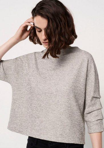 someday Sweatshirt »Uliri« mit Raffung am Ärmel