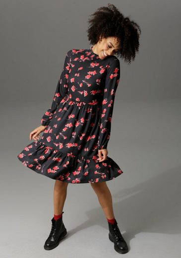 Aniston CASUAL Jerseykleid mit Volant