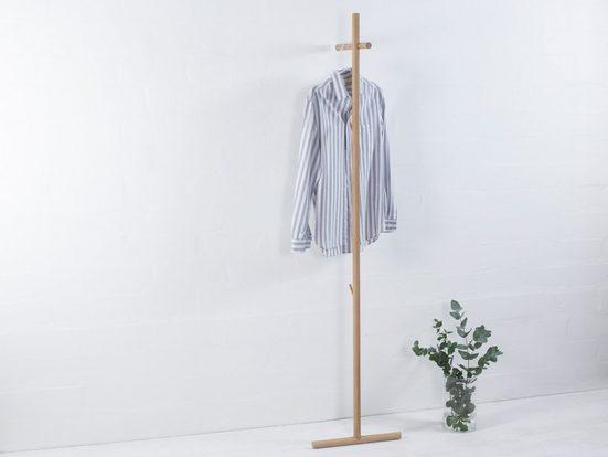 kommod Garderobe »STEKKA«, Lehngarderobe, Standgarderobe, Design Wandgarderobe – 180 x 40 x 40 cm – Eiche massiv natur