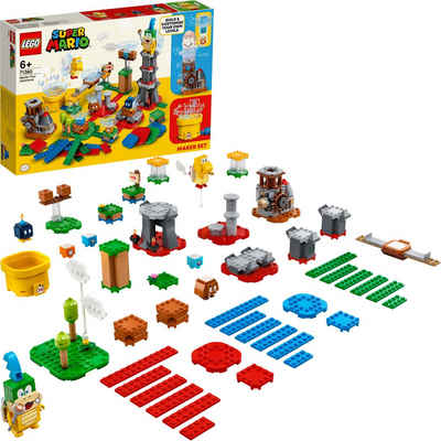 LEGO® Konstruktionsspielsteine »Baumeister-Set für eigene Abenteuer (71380), LEGO® Super Mario«, (366 St), Made in Europe