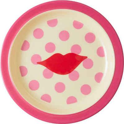 """rice Speiseteller »Melamin Teller """"Kiss"""", Ø22cm«"""