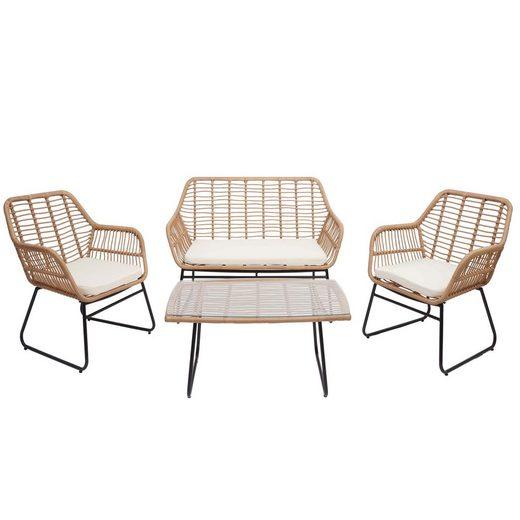 MCW Sitzgruppe »MCW-G18«, Garten, Inklusive Polsterauflagen, Modernes Design