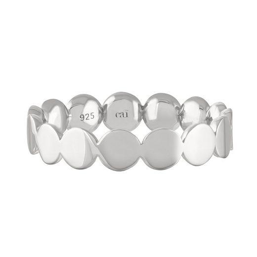 CAÏ Silberring »925/- Sterling Silber rhodiniert Boho«, glänzend